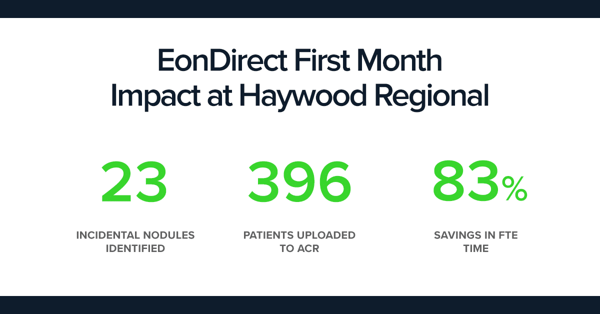 Haywood: EonDirect First Month Use Case